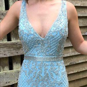 Powder Blue Primavera Couture cocktail dress 0 2